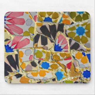 Parc Guell Ceramic Tiles in Barcelona Spain Mouse Mat