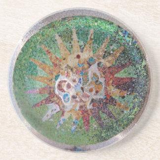 Parc Guell Green Mosaic Coaster