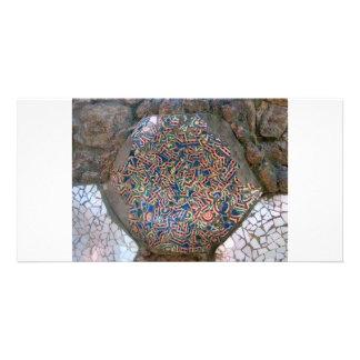 Parc Guell Rainbow Mosaic Photo Card