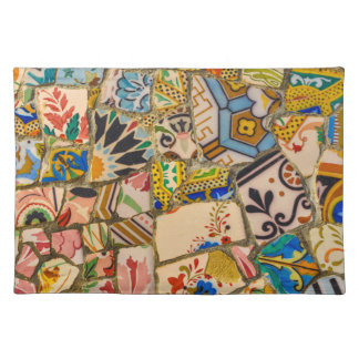 Parc Guell Tiles in Barcelona Spain Placemat