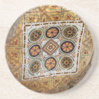 Parc Guell Yellow Mosaic Coaster