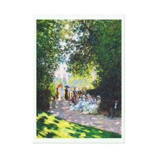 Parc Monceau Claude Monet painting Stretched Canvas Print