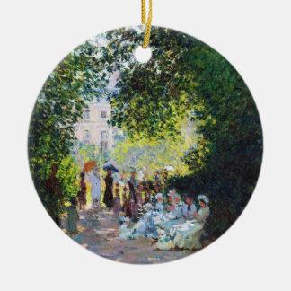 Parc Monceau Claude Monet painting Double-Sided Ceramic Round Christmas Ornament