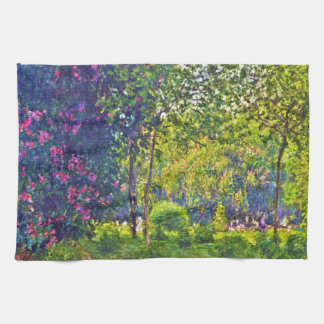 Parc Monceau Claude Monet Tea Towel