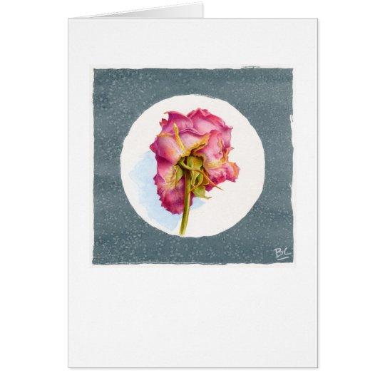 PARCHED WRINKLED ROSE CARD