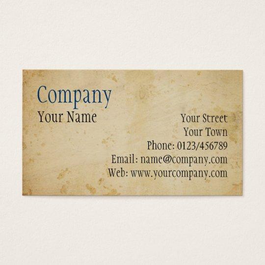 Parchment Business Card