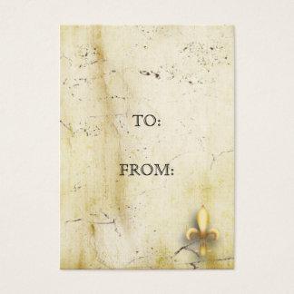 Parchment Fleur-de-Lys Business Card