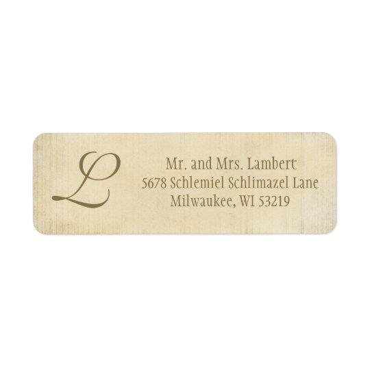 Parchment Monogram Customisable
