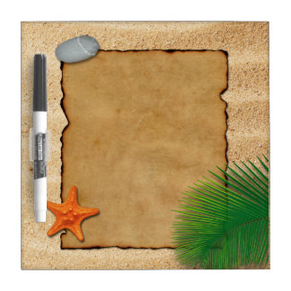 Parchment on Sand Background - Dry Erase Board