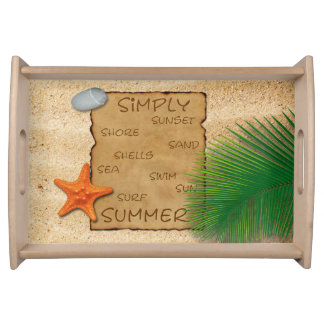 Parchment on Sand Background - Serving Tray