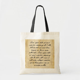Parchment Paper Background Canvas Bag