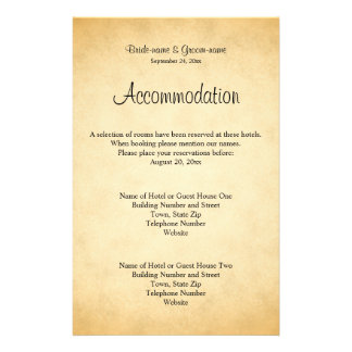 Parchment Pattern Design Wedding 14 Cm X 21.5 Cm Flyer