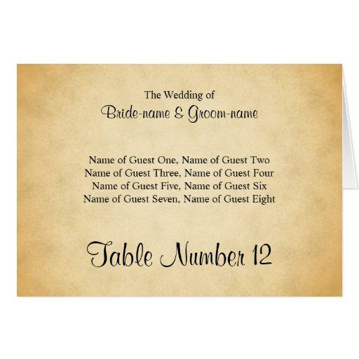 Parchment Pattern Design Wedding Place Cards