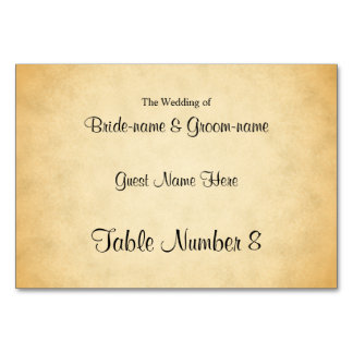 Parchment Pattern Design Wedding Place Cards Table Cards