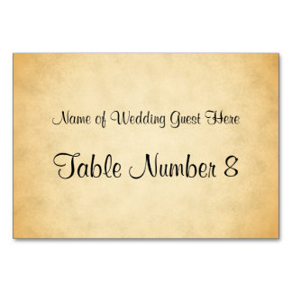 Parchment Pattern Design Wedding Place Cards Table Card