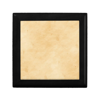 Parchment Stained Mottled Look Old Antique Small Square Gift Box
