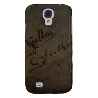 Parchment text with antique writing, old paper galaxy s4 case