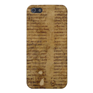 Parchment text with antique writing, old paper iPhone 5/5S case