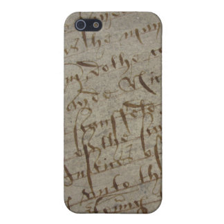Parchment text with antique writing, old paper iPhone 5 case