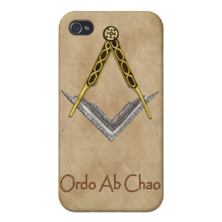 Parchment with Square and Compass iPhone 4 Case
