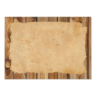 Parchment Wood Rustic Personalized Thank You Card