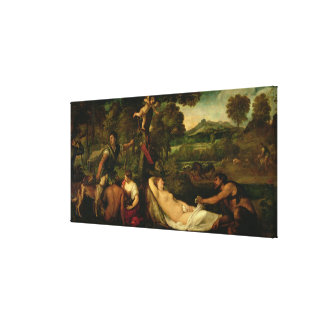 Pardo Venus or Jupiter and Antiope Canvas Print