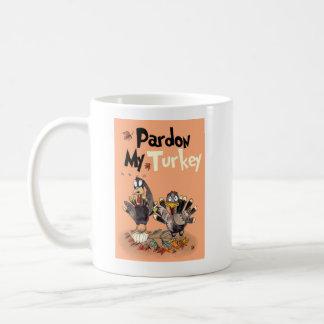 Pardon My Turkey Book Cover Mug