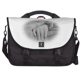 Parent and Baby Child Holding Hands Vignette Photo Commuter Bags