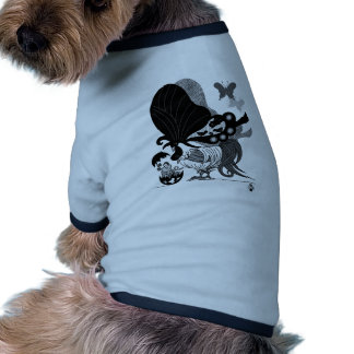 Parent and child of chicken butterfly (Parent-chil Ringer Dog Shirt