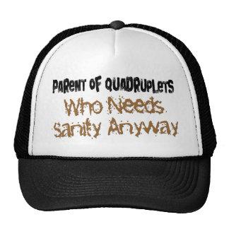 Parent of QUADRUPLETS Hats