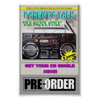 PARENT S TALK PROJECT COUNTER CARD PRE-ORDER POSTER