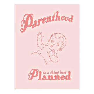 Parenthood Best Planned Postcard