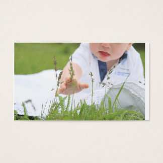 Parenthood, family, children concept. Baby hand. Business Card