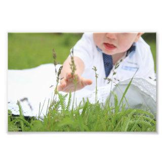 Parenthood, family, children concept. Baby hand. Photo Print