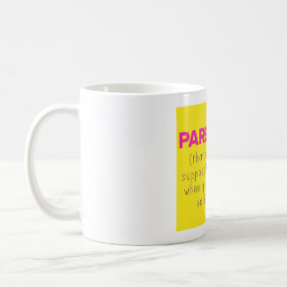 Parenting and facebook coffee mug