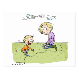 Parenting is... appreciating the ordinary postcard