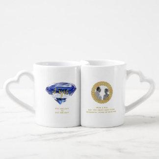 Parents 45th Wedding Anniversary Sapphire PHOTO Coffee Mug Set