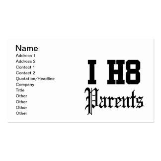 parents business card template