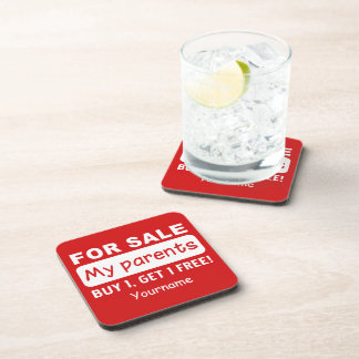 PARENTS FOR SALE custom coasters Drink Coaster