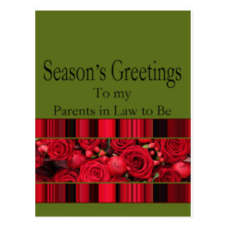 parents in law to be Merry Christmas card Postcard