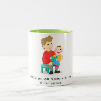 Parents make their children readers Two-Tone coffee mug
