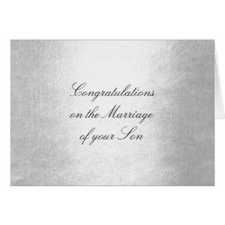Parents of Bride Congratulations Silver Glam Card