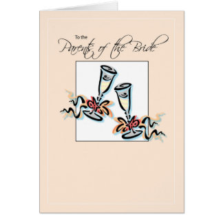 Parents of Bride Toast Card