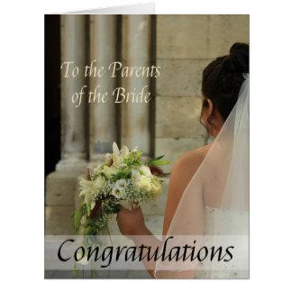 parents of the bride wedding congratulations big greeting card