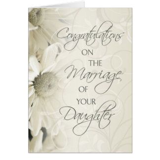 Parents of the Bride Wedding Congratulations Card