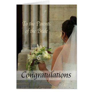parents of the bride wedding congratulations greeting card