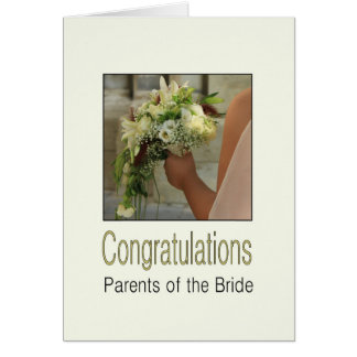 parents of the bride wedding congratulations note card