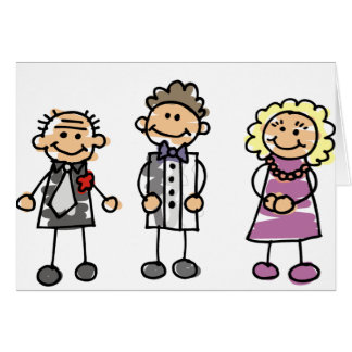 Parents Of The Groom On Wedding Day Greeting Card