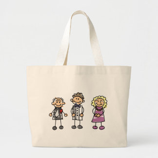 Parents Of The Groom On Wedding Day Jumbo Tote Bag