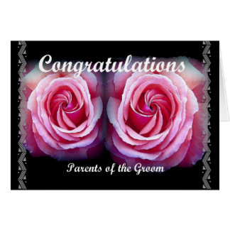 PARENTS of the GROOM - Wedding Congratulations Card